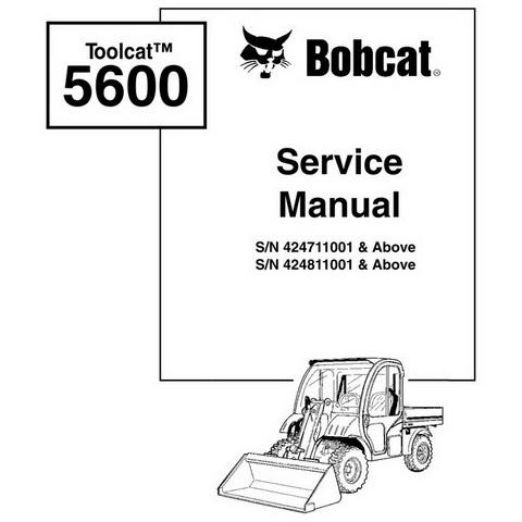 Bobcat Toolcat 5600 Utility Work Machine Workshop Repair