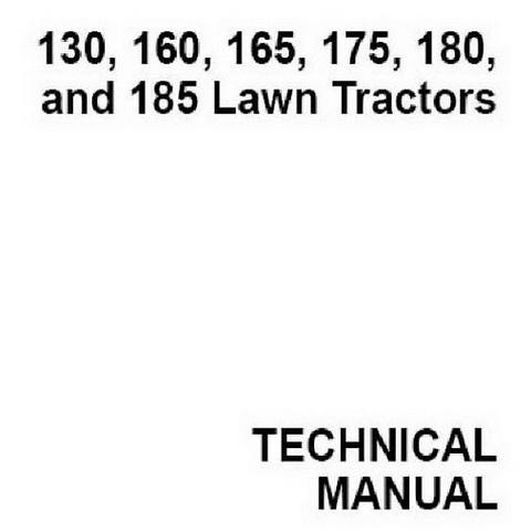 John Deere 130, 160, 165, 175,180, and 185 Lawn Tractors