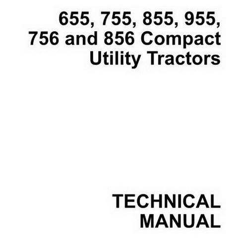 John Deere 655, 755, 855, 955, 756 and 856 Compact Utility