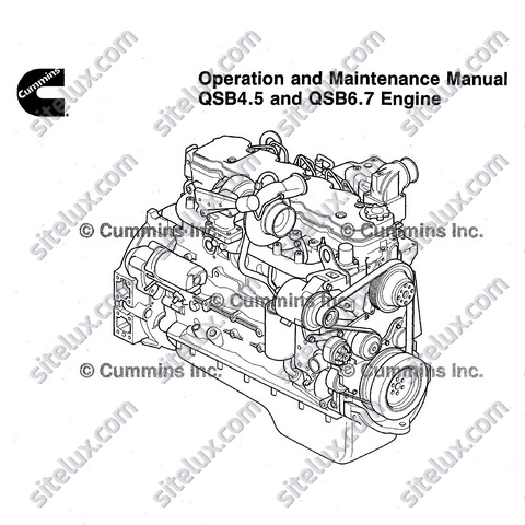 Cummins QSB4.5 and QSB6.7 Engine Operation and Maintenance