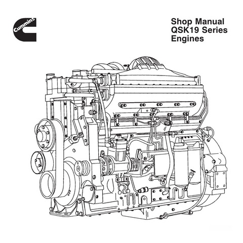 Cummins QSK19 Series Engines Service Repair Shop Manual