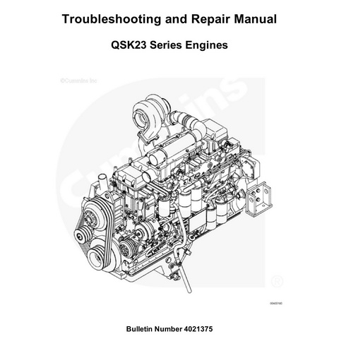 Cummins QSK23 Series Engines Troubleshooting and Repair