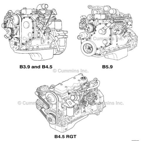 Cummins B3.9, B4.5, B4.5 RGT, and B5.9 Engine Repair