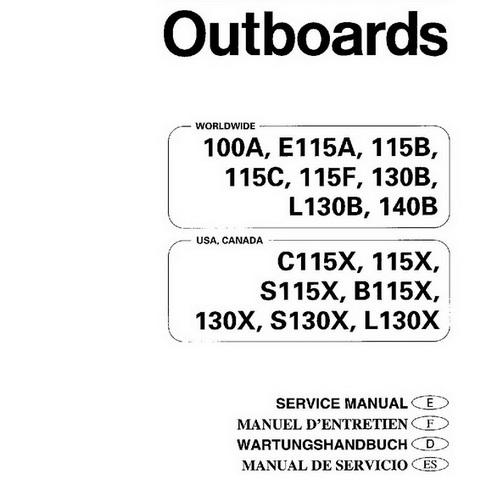 Yamaha Marine 100A, E115A, 1158, 115C, 115F, 1308, L 1308