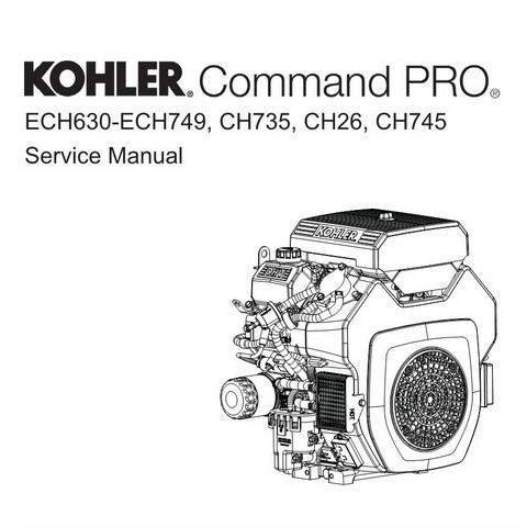Kohler Command PRO ECH630-ECH749, CH735, CH26, CH745