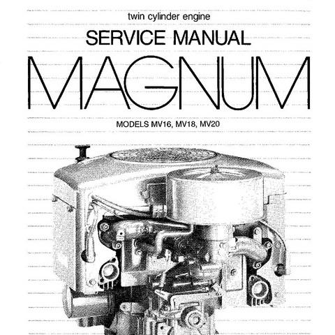 Kohler Magnum MV16, MV18, MV20 Twin Cylinder Engines