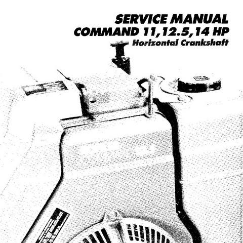 Kohler Command 11, 12.5, 14 HP Horizontal Shaft Engines