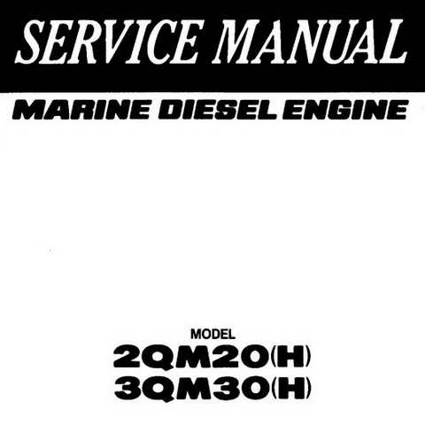 Yanmar 2QM20(H) & 3QM30(H) Marine Diesel Engine Repair