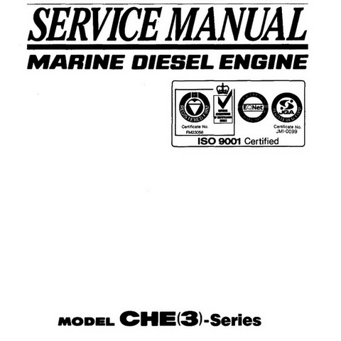 Yanmar CHE(3)-Series Marine Diesel Engine Repair Service