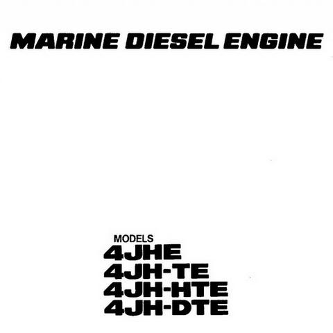 Yanmar 4JHE, 4JH-TE, 4JH-HTE & 4JH-DTE Marine Diesel