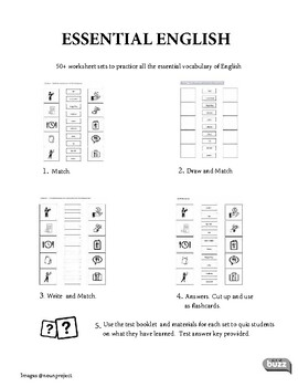 Thematic Vocabulary Worksheets and Flashcard Sets
