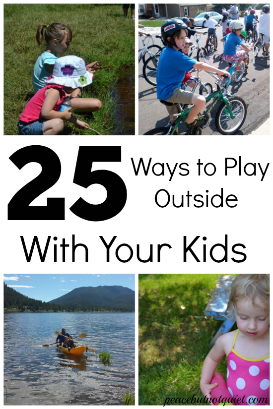 Looking for things to do outside with kids this summer? Here are 25 solutions to beat summer boredom!