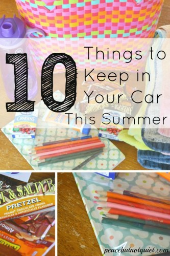 10 Things to Keep In Your Car For Summer