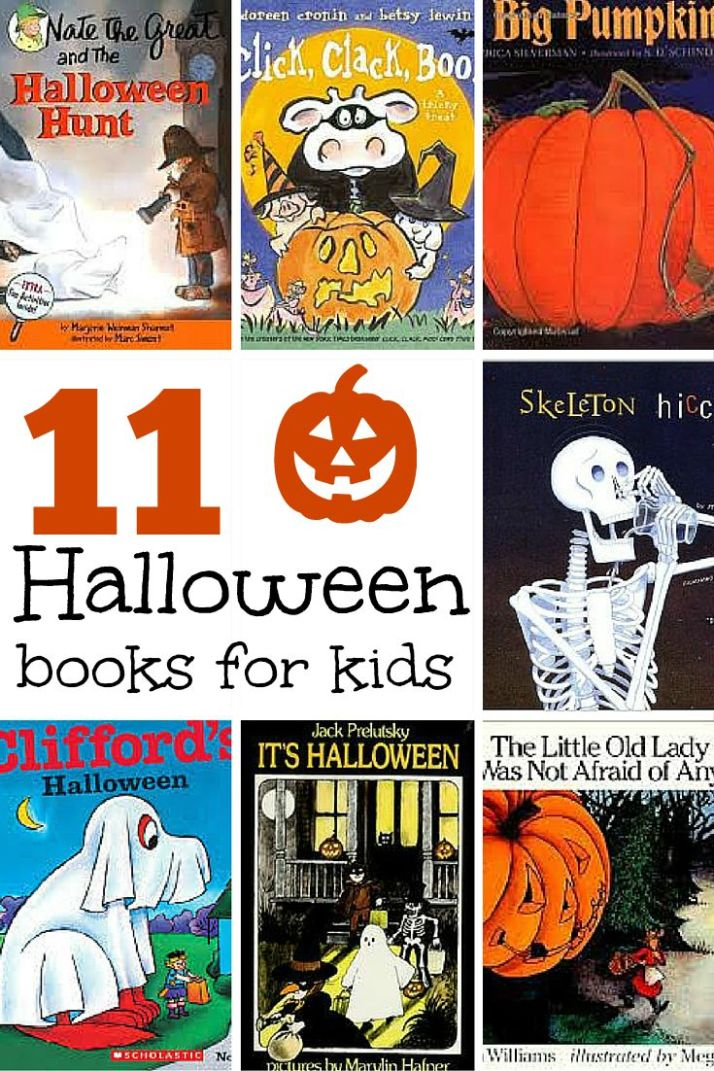 Eleven Halloween Books for Kids -- funny, not-too-spooky books for kids to read.
