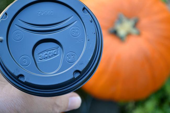 cup with pumpkins
