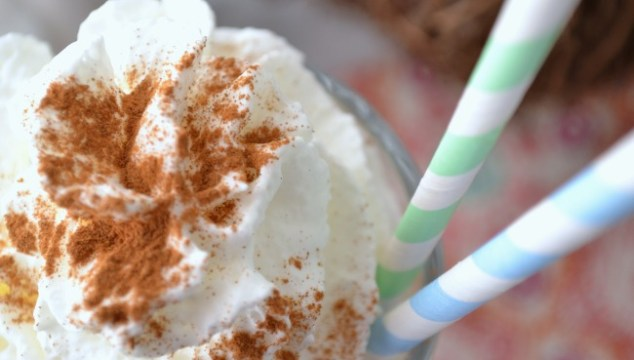 This pumpkin milkshake is tasty and delicious and makes the perfect fall milkshake!