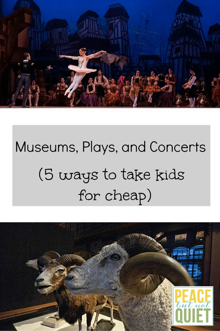 How to save money taking kids to concerts, plays and museums.