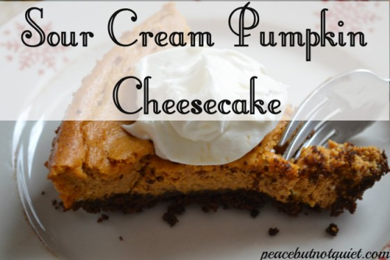 sour cream pumpkin cheesecake