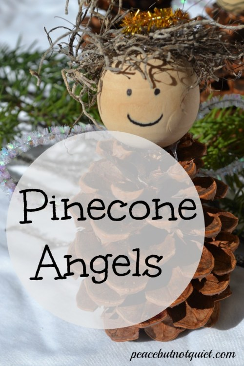 Fun Pinecone Angel Christmas Crafts For Kids