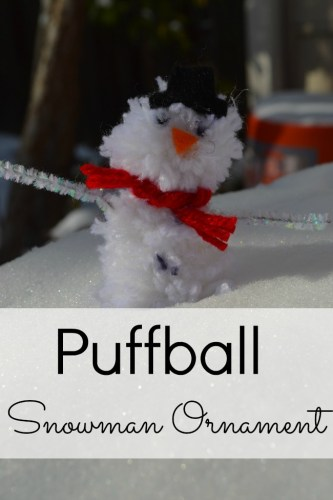 Homemade Ornaments: Pom Pom Snowman