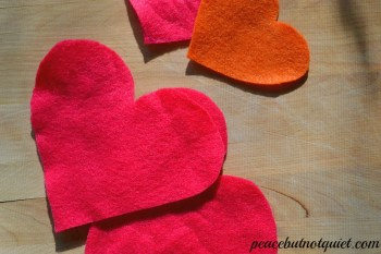 Valentines Day Crafts — Felt Hearts