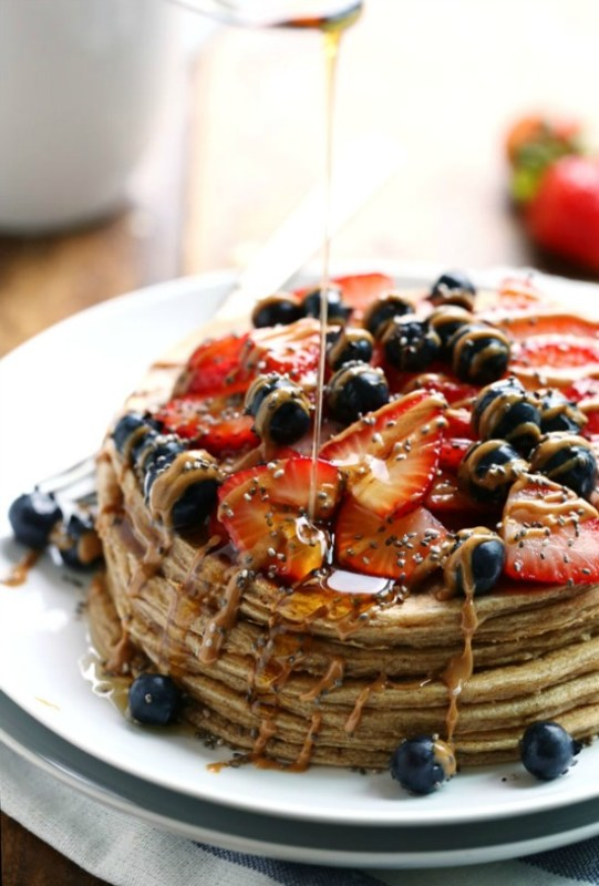 Tired of cereal every morning for breakfast? Try one of these eleven delicious pancake recipes to change up your breakfast!
