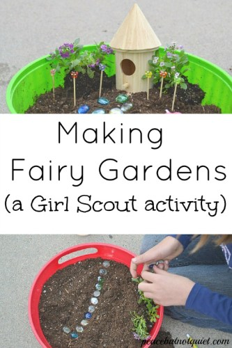 Girl Scouts Activity: Making Fairy Gardens