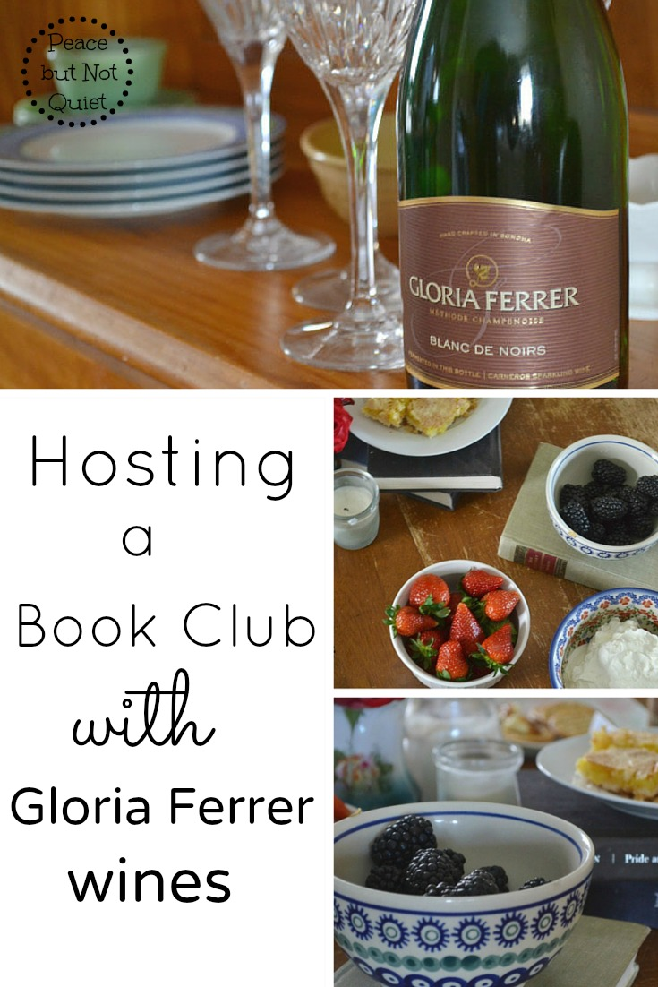 Hosting a book club with gloria ferrer wines peace but not quiet how to host a book club evening with a nice mix of fancy and forumfinder Gallery