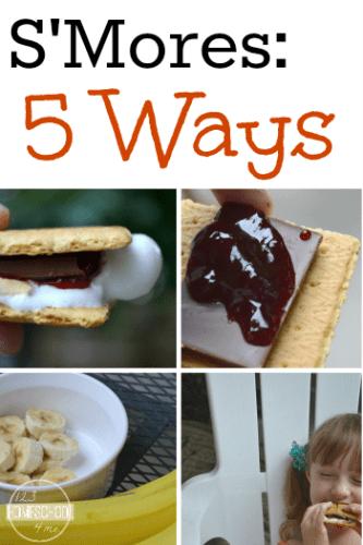 SMores 5 Ways