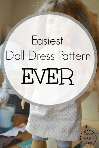 The Easiest Doll Dress Pattern in the History of Ever