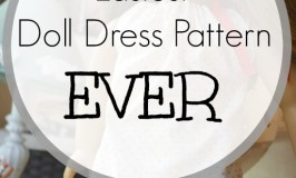 Want to try making doll dresses on your own? This is, quite simply, the easiest sewing pattern for doll dresses ever!