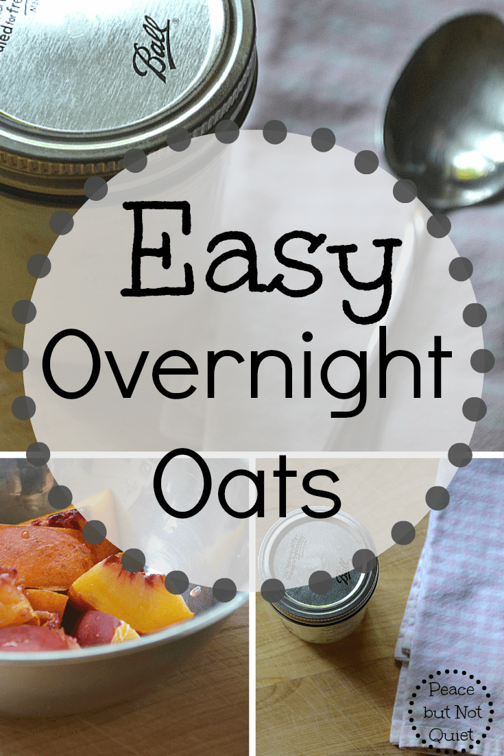 Looking for easy, healthy breakfast ideas to start the day well? These overnight oats have only 4 ingredients and are great on the go!
