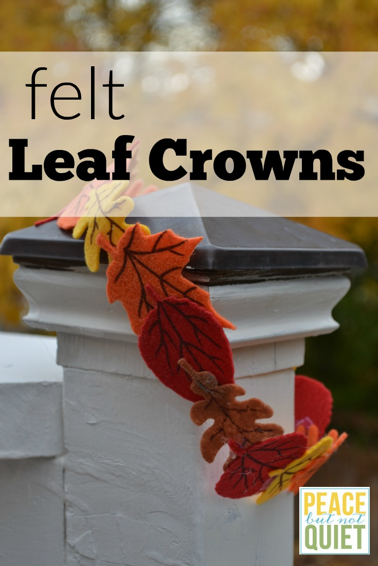 These felt leaf crowns are a fun, simple craft kids will love to make and wear!