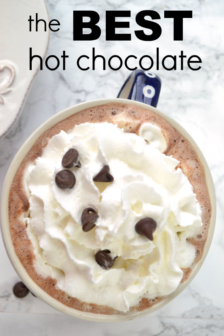 the only hot chocolate recipe you'll ever need