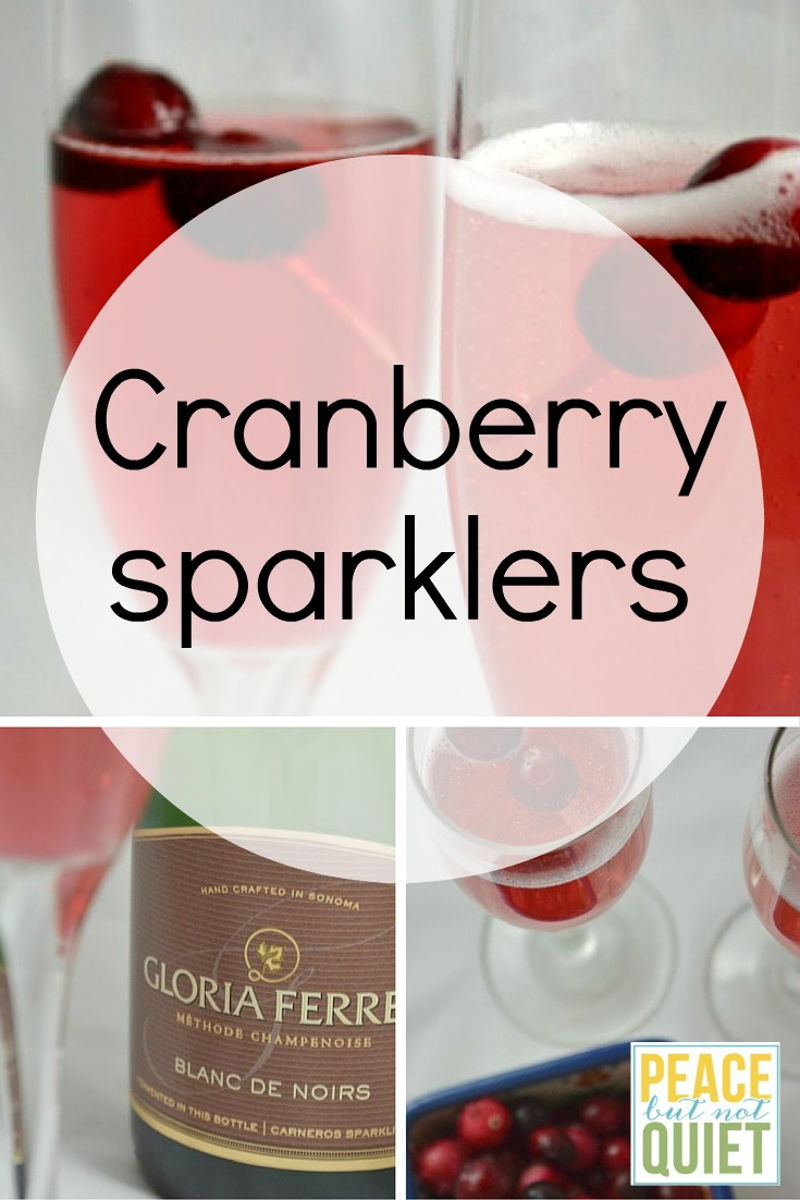 Cranberry Sparklers -- a delicious, festive cranberry cocktail made with sparkling wine. Perfect for toasting or sipping and talking!