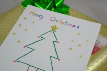 Embroidered Handmade Christmas Cards