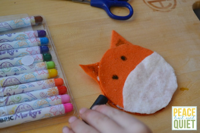 Fantastic Mr. Fox -- a kid made Christmas ornament based on a great children's book!