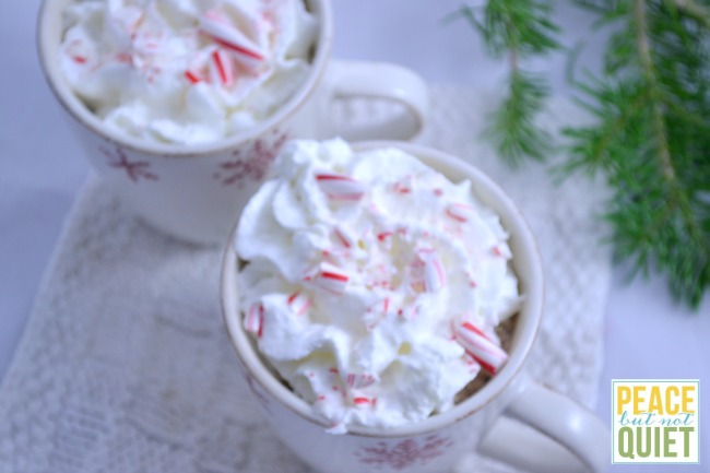This delicious candy cane hot chocolate recipe is a great way to use up candy canes you have leftover from Christmas!