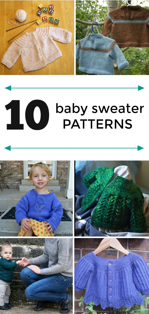 10 baby sweater patterns
