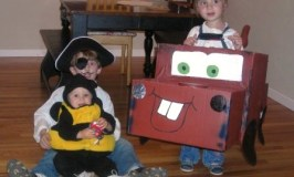 How to make a Mater costume from a cardboard box -- my kids love this costume!