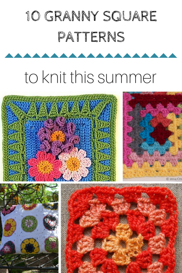 10 free, simple Granny square patterns to crochet