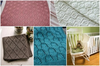 11 Beautiful Lacy Baby Blanket Knitting Patterns