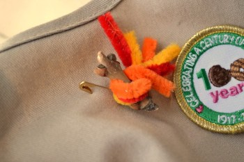 Make these campfire Girl Scout swaps for your next event