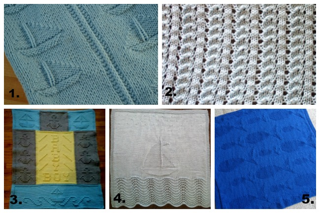 nautical baby blanket knitting patterns