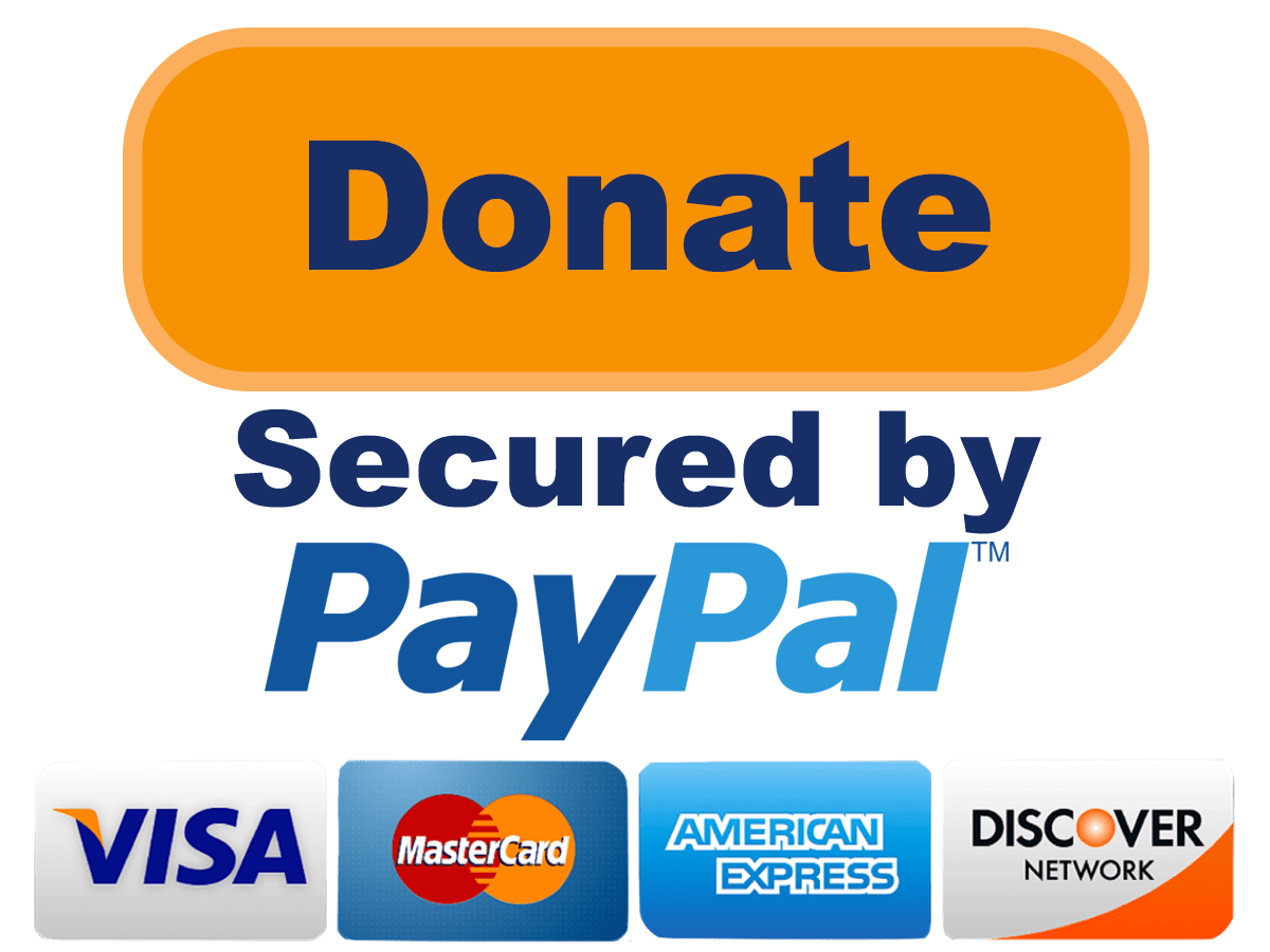 Donate. Secured by Paypal.