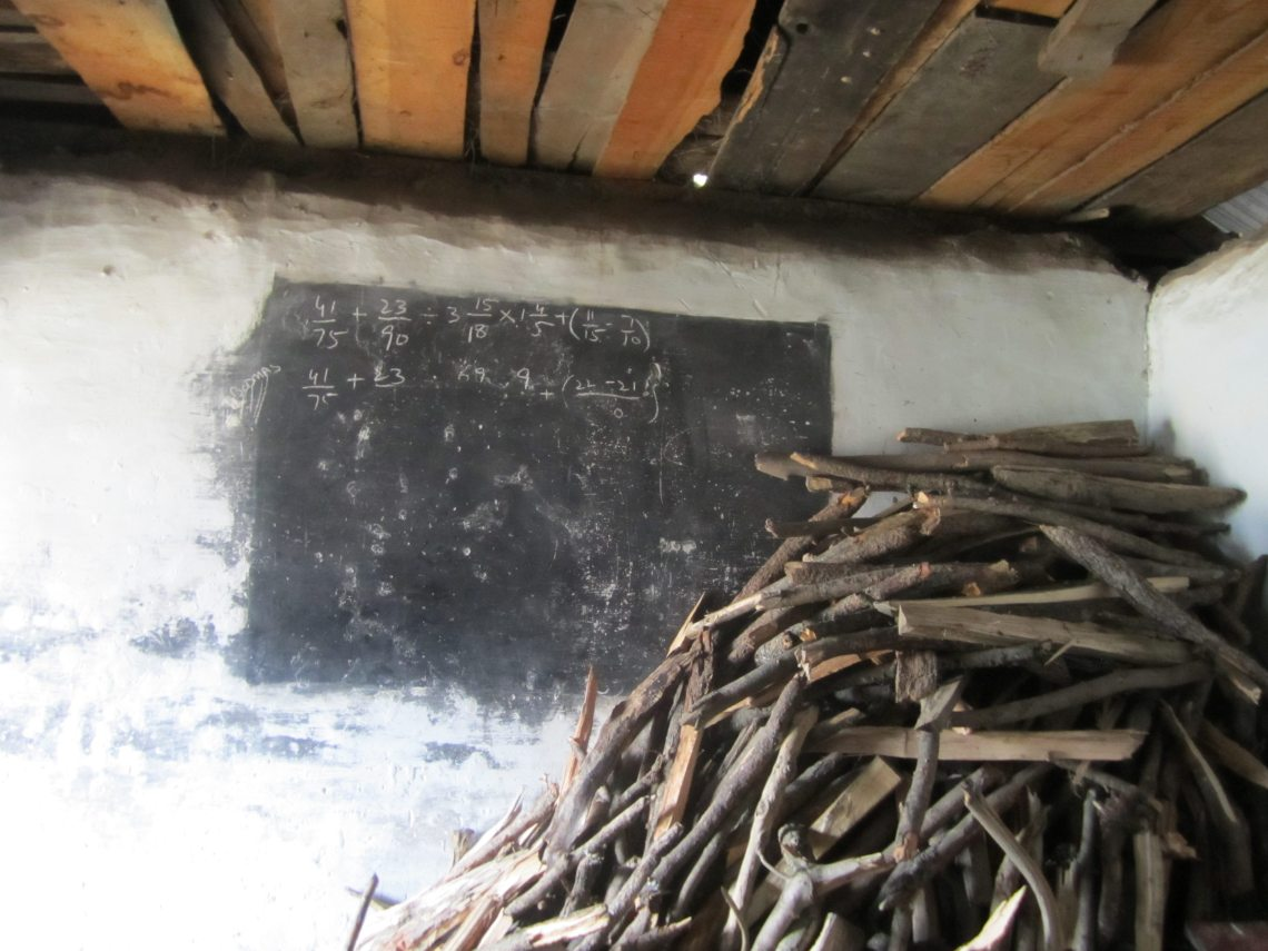 class room at govt boys school in Pakistan