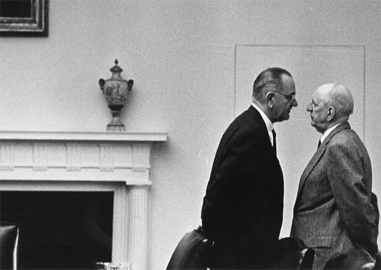 LBJ and Sen. Richard Russell