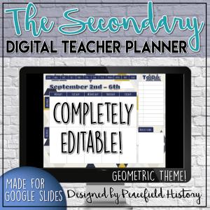 Digital Teacher Agenda Cover Geometric