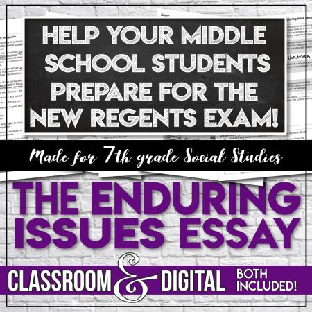 Enduring Issues Essay for middle school Social Studies