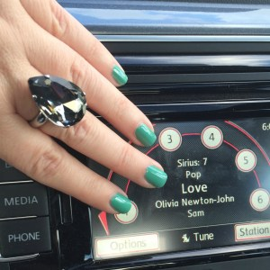 Pretty nails, and Olivia on the radio! What more could a girl want?